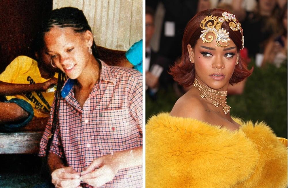 As transformações mais incríveis de celebridades antes e depois da fama.