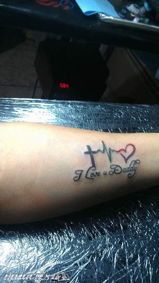 Cruz Con Signos Vitales Y Corazon Tatuajes 123