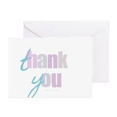 Ocean Breezes Thank You Greeting Cards (Pk of 10)