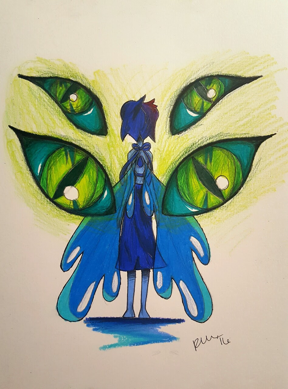 *I'm not Lapis anymore.* I'm SO happy to have my daughter back! I just hope she'll be okay from here on out. Prismacolor on Strathmore.