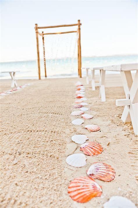 Beach wedding   seashells along the aisle   My Dream
