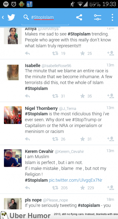 People Who Complain About Stopislam Trending Are The Ones Making It