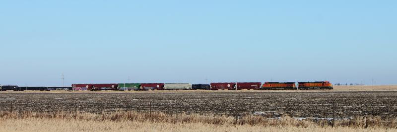 BNSF 4901 and 4151 Panorama