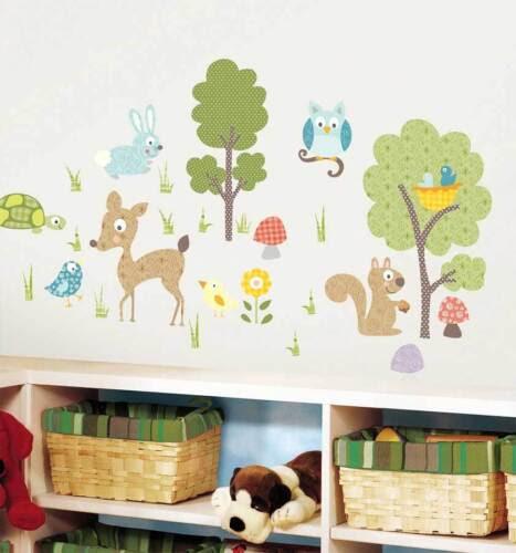 Wall Decals Stickers Wandsticker Kinderzimmer Tiere Des Waldes Waldtiere Wandtattoo Baby Baum Eule Home Furniture Diy Tohoku Morinagamilk Co Jp