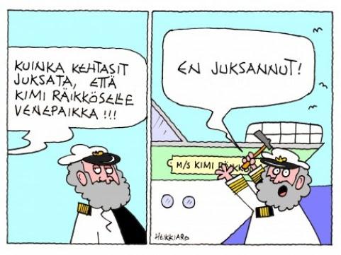 Kimi Räikkösen venepaikka 17.2.17