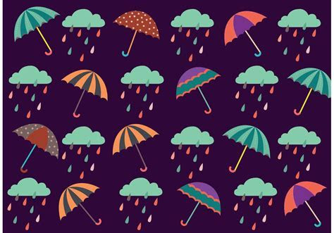 Spring Shower Pattern Free Vector Art   (35,299 Free