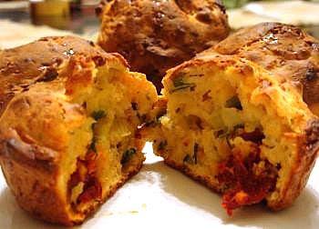 savory paneer muffins