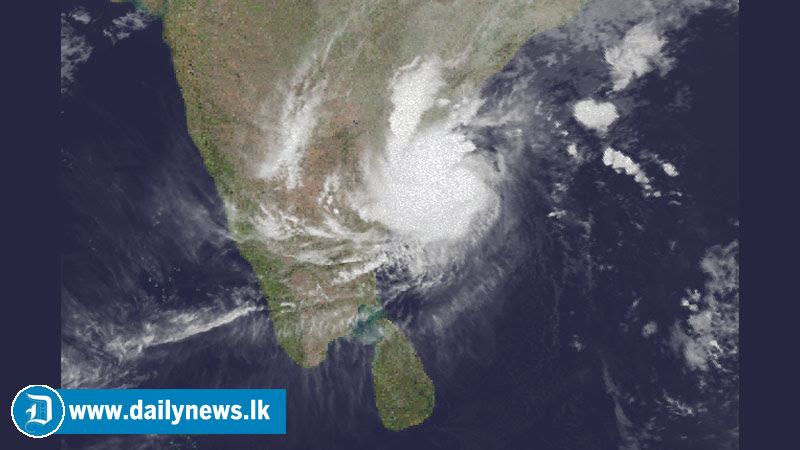 """Pathai"" storm moving from Sri Lanka"