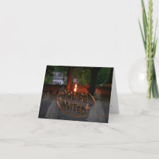 Ghostly Invitation card