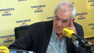 El conseller d'Acció Exterior, Ernest Maragall, durant l'entrevista a Catalunya Ràdio