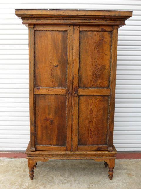Primitive Pine Antique Rustic Armoire Cabinet Antique Furniture