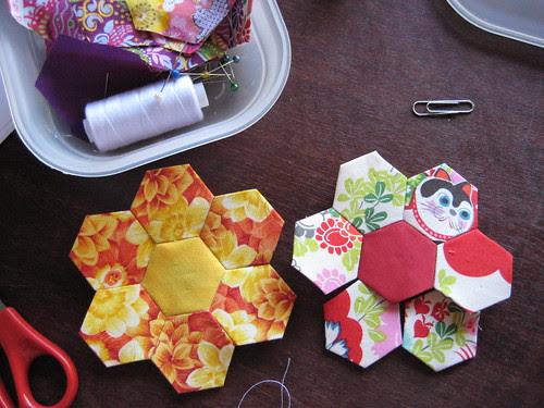 1 inch hexagons
