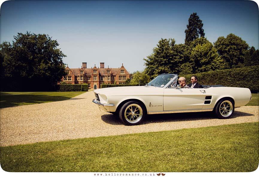 Ford Mustang Vintage Alternative Suffolk Wedding Photography Haughley Park Barn - www.helloromance.co.uk
