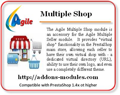Agile Multiple Shop module for Agile Multiple Seller module