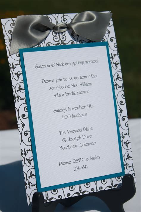 Handmade Bridal Shower Invitations   homemade invitations