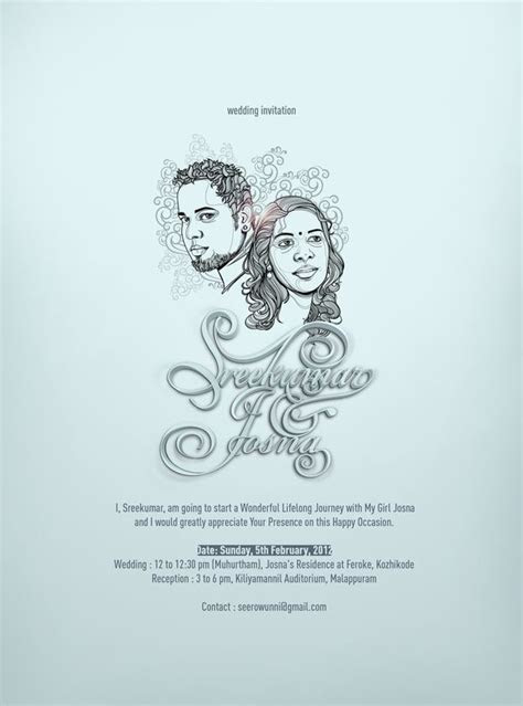 Weding INvitation by seerow .com, via Behance   Malayalam