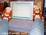 Mike and his Tiggers read email.
