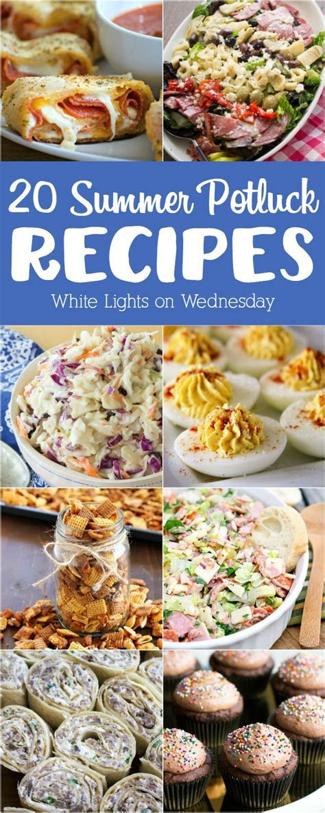 20 Summer Potluck Recipes   White Lights on Wednesday