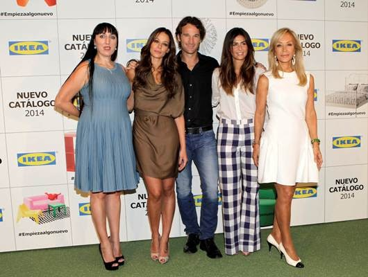 Rossy de Palma, Eva González, Carlos Moyá, Nuria Roca, Carmen Lomana  y sus Espacios Ikea.