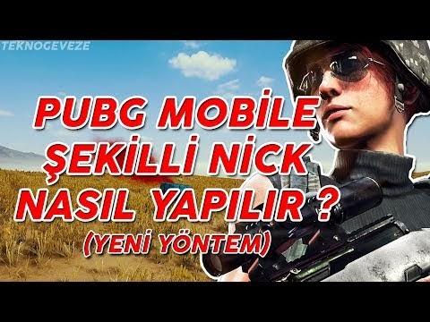 PUBG Mobile Şekilli Nick Yapımı - Yeni Yöntem