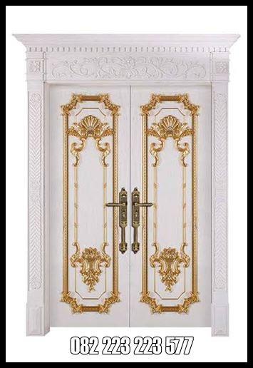 Pintu Rumah Mewah Klasik Eropa Ukiran Jepara Kusen Pintu Kupu Tarung