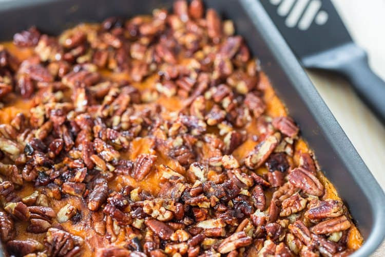 Best Ever Sweet Potato Casserole Recipe with Pecans - All ...
