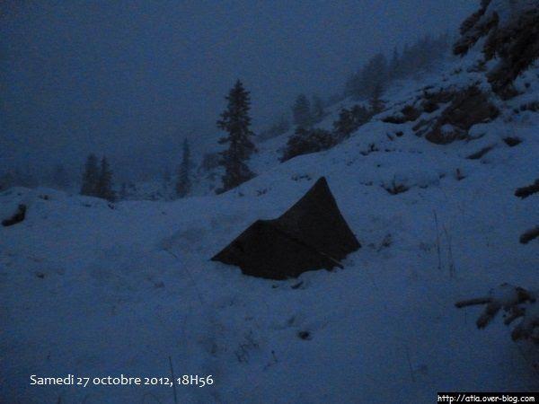 Nuit blanche sous une tempête de neige