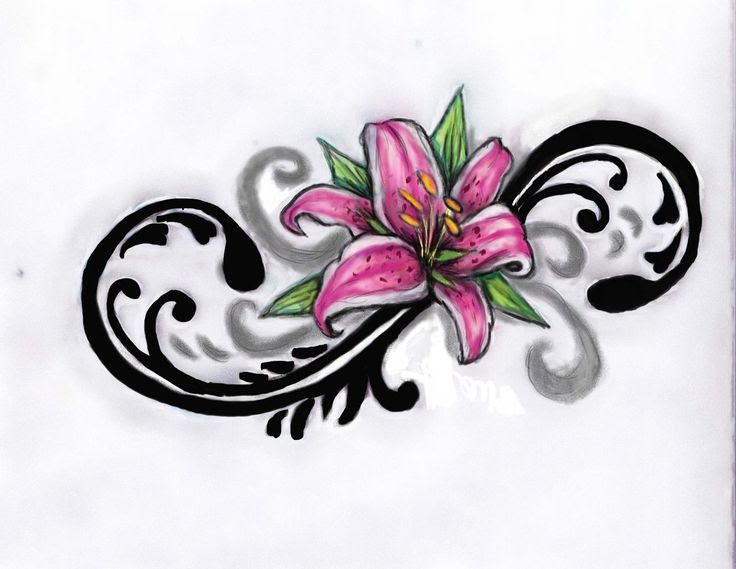 Lily Flower Tattoo Drawing At Getdrawingscom Free For Personal