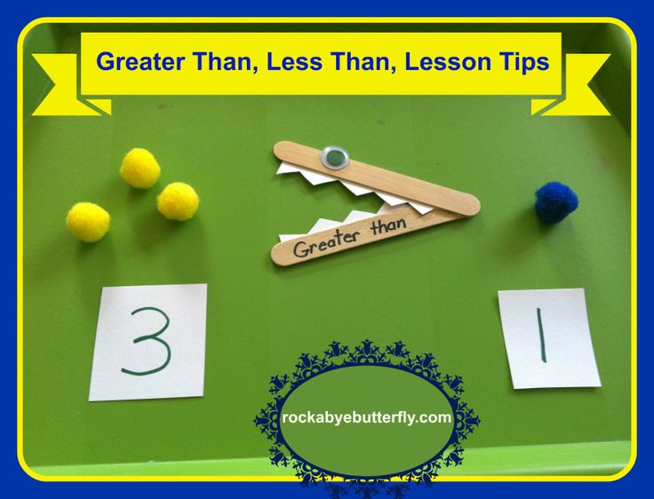Greater Than, Less Than Lesson Tips with Printables!
