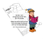 Christmas Caroler Son Yard Art Woodworking Pattern - fee plans from WoodworkersWorkshop® Online Store - son,brother,Christmas,singing,carolers,caroling,Xmas,festive,yard art,painting wood crafts,scrollsawing patterns,drawings,plywood,plywoodworking plans,woodworkers projects,workshop blueprints
