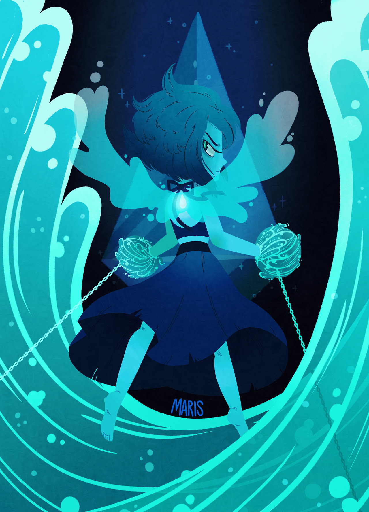 """lapis lazuli, you're chained to the bottom of the sea… "" available as a print on redbubble!"
