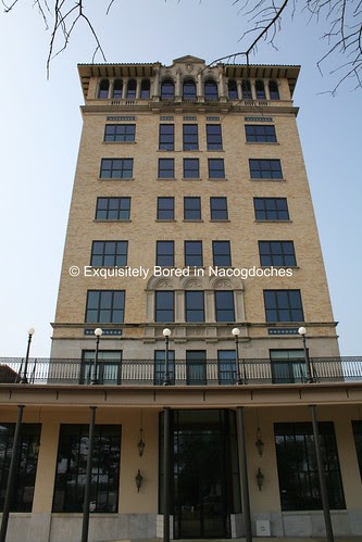 looking up at hotel marshall