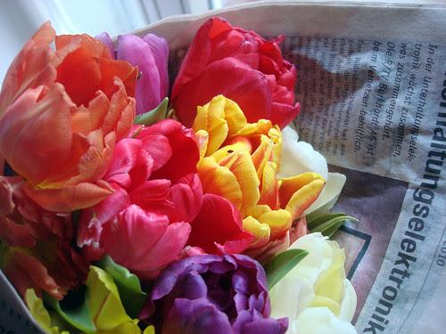 Frühling in Zeitunspapier