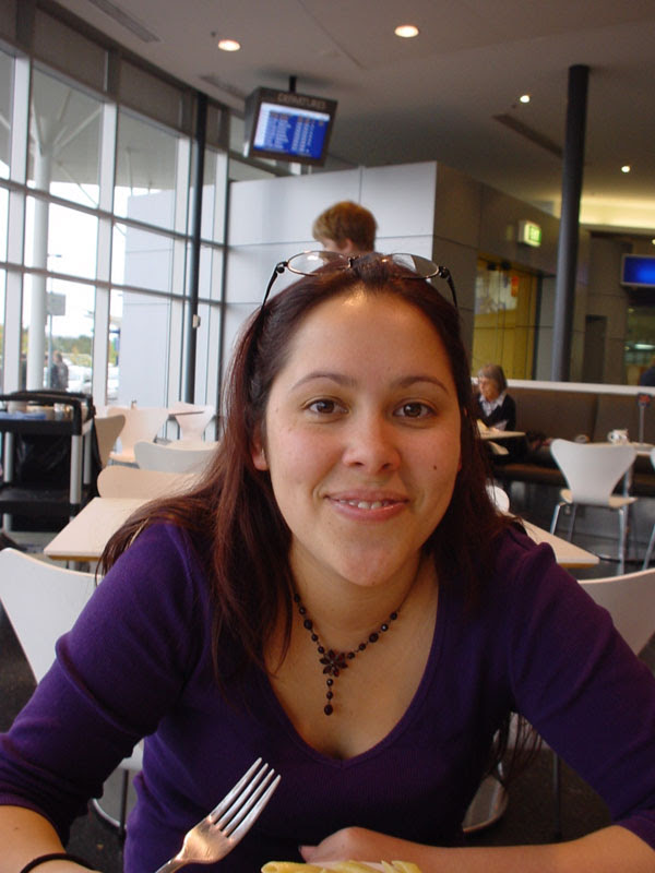 Jasmine at the airport