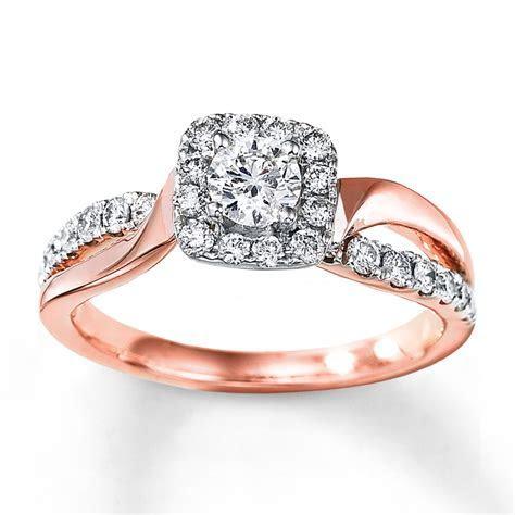 Diamond Engagement Ring 3/4 Carat tw 14K Two Tone Gold