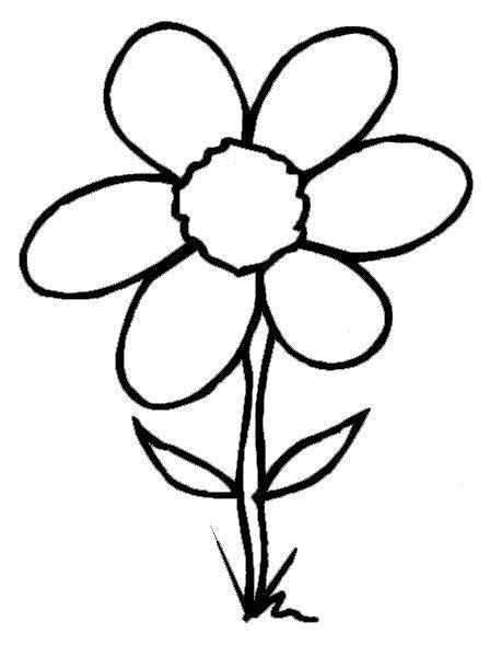Dltk Flowers Coloring Page