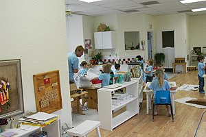 Montessori classroom modern day