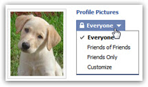 Change who can see your Facebook profile photo