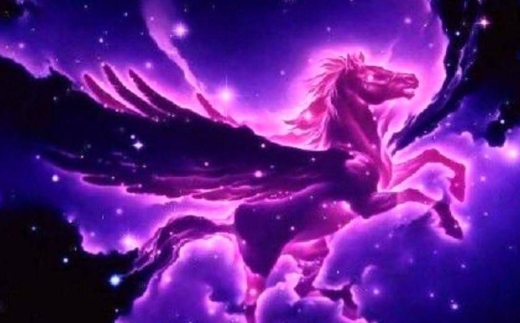Wallpaper Galaxy Unicorn Glitter Hd Wallpaper