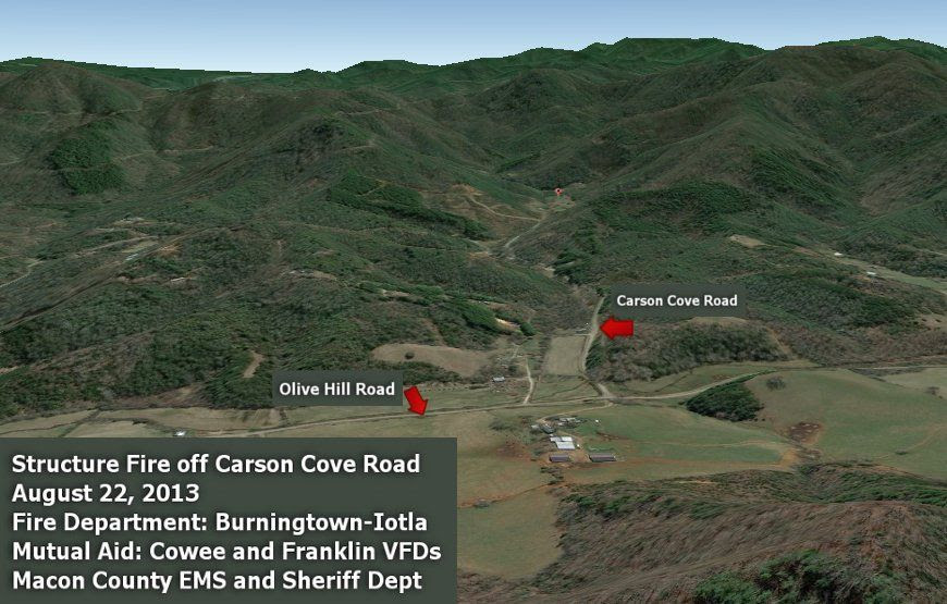 940 Carson Cove Road  Image from Google Earth Titles by Bobby Coggins
