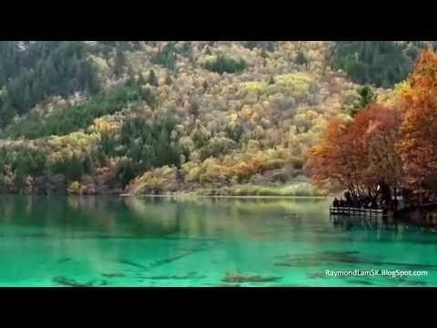 视频 - 风景:九寨沟,轻音乐:你爱永不变 Scenery: JiuZhaiGou Valley, Instrumental Music