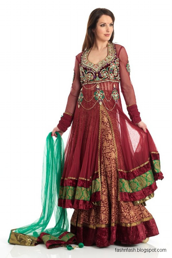 Anarkali-Frocks-in-Double-Shirts-Style-Double-Shirt-Dresses-2012-2013-1