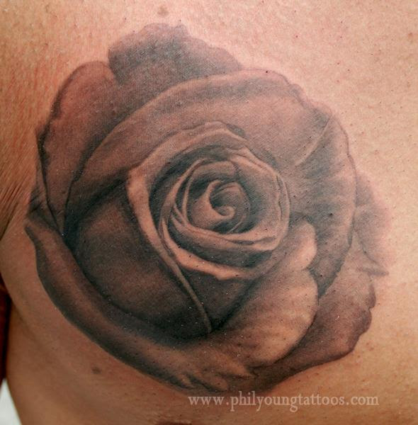 Realistic Black And Gray Flower Tattoo Flowers Healthy