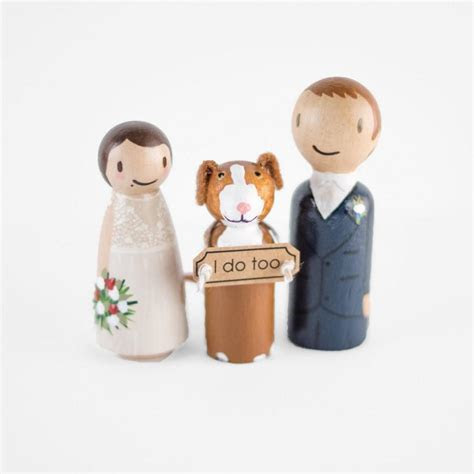 Cake Topper With Dog   Couple With Dog   Dog Cake Topper