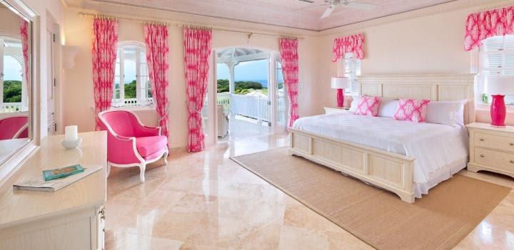 Color rosa para interiores retro y rústicos