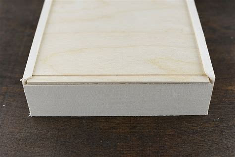 Wood Box with Sliding Lid 7in