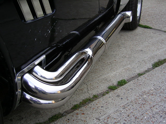 Polished AC Cobra Exhausts by Ashford Chroming