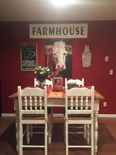 kitchen farmhouse cows dreamhomehomedecor