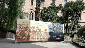 The University Of Barcelona Exhibits A Mural Painting By Urban