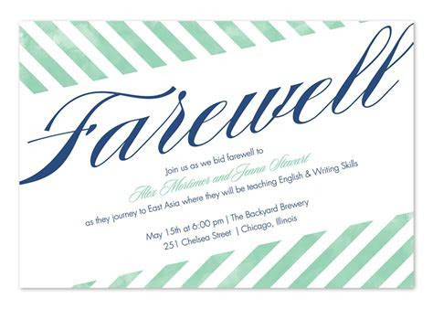 Farewell Stripes   Party Invitations by Invitation